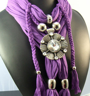 Fantastic jewelry pendant necklace scarf