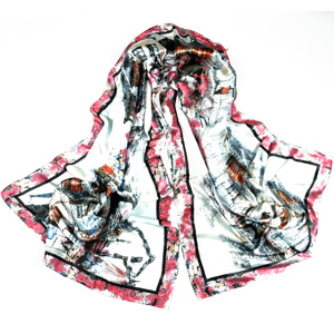 Chinas rivers and lakes stylish silk scarf
