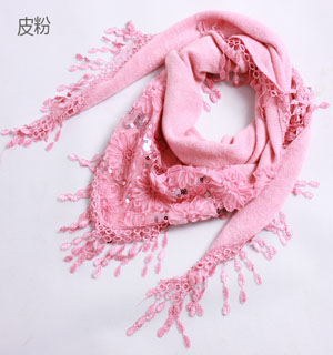 Lace triangle towel cotton scarf