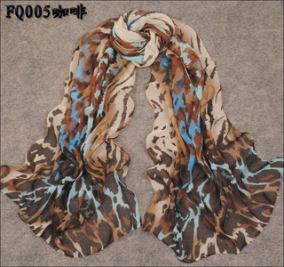New colorfull leopard silk scarf