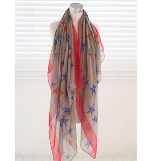 Printed scarves stars wholesale scarf
