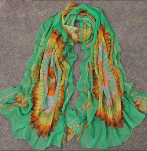 Feather silk scarf Wholesale