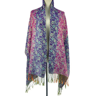 Purple pashmina scarf shawl wholesale