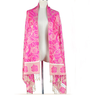 Cotton Flower Shawl in Womens Scarves