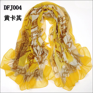 Women chiffon chain scarves