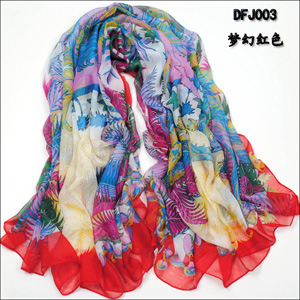 Fashion Womens Chiffon Silk Scarf Shawl
