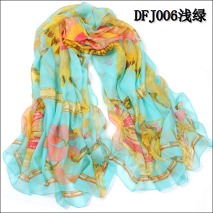 Women feather chiffon scarves