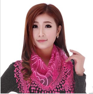 ladies triangle tassel scarf shawl wholesale