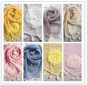 lace triangle cotton scarf for winter