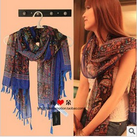 2013 western new style totem ptinted scarf shawl