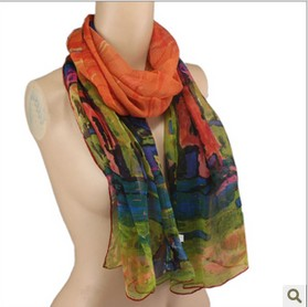 Wholesale sapphire silk scarf for spring