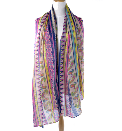 custom fashion ladies long silk scarf
