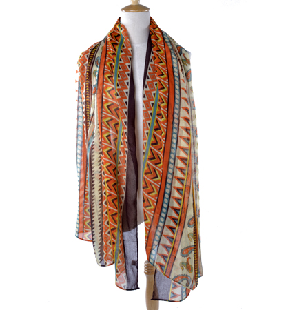 hot selling women long silk scarf