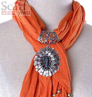 Wholesale cheap women pandant jewelry scarf