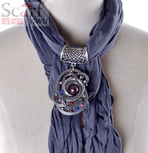 pendant jewelry scarf for ladies
