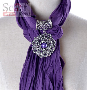 charming pendant scarf necklace