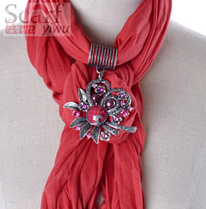wholesale fashion scarf with jewelry