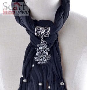 women wholesale fashion scarf with jewelry