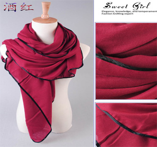 fashion long unique plain scarf selling hot cotton plain scarf