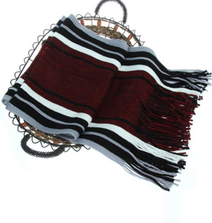 Striped mens scarf