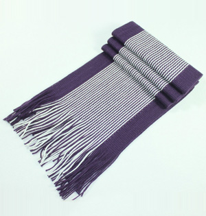 Knitted wool scarf men