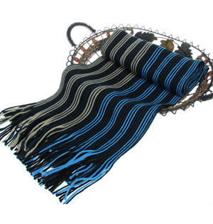 Striped scarves for men