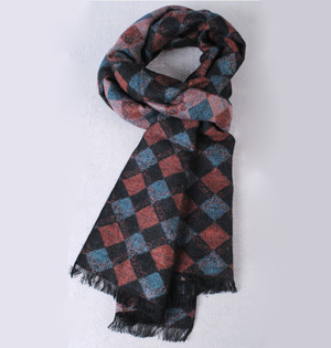Knit long scarf for men