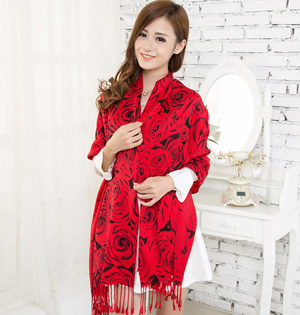 Cotton red scarves wholesale
