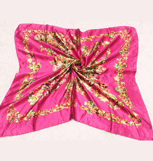 Wholesale square silk scarves