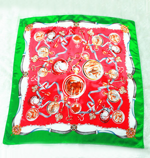Floral silk scarf wholesale
