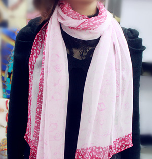 Ivory silk scarf wholesale