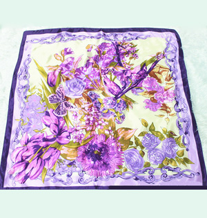 Women silk painted scarves wholesale