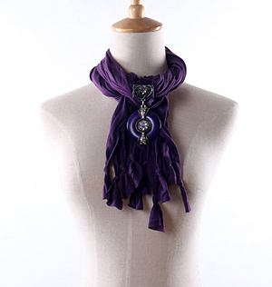 Wholesale purple women pendant scarves