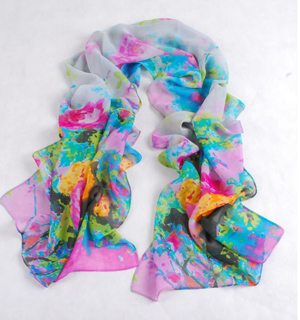 Wholesale flower print chiffon scarf