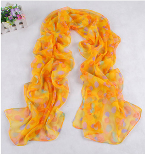Women georgette long scarf wholesale