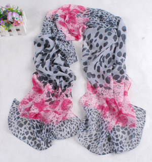 Wholesale leopard camouflage point scarf