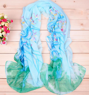 Temperament daffodils Print Long Scarf Wholesale