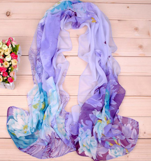 Gorgeous big peony printed scarf shawls wholesale