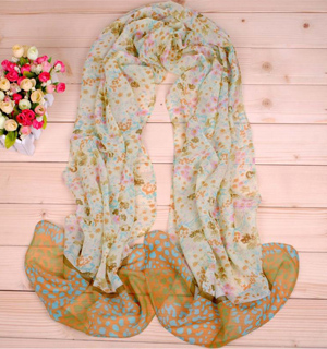 Leopard Print Long Scarf wholesale point