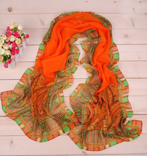 Fashion cashew flower long scarf