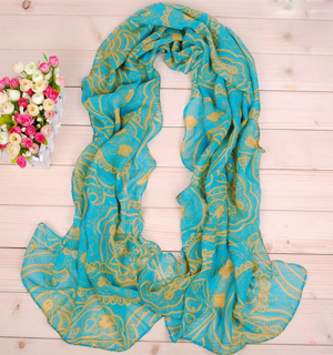Plants flower print scarf wholesale