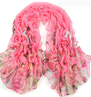Big butterfly Voile cotton scarves wholesale