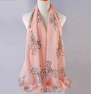 Bow Print scarves wholesale female models