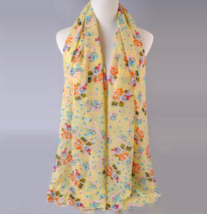 Rose printed scarves wholesale female models