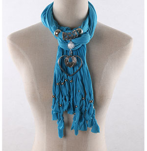 Heart pendants wholesale scarves