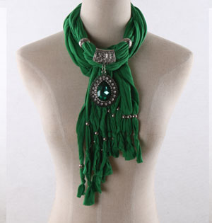 Green pendant scarves wholesale
