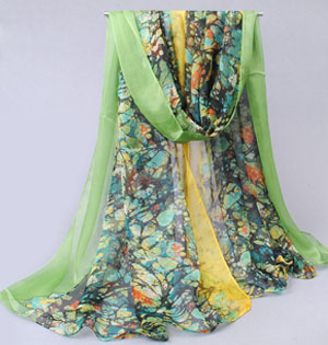 Butterfly embellishment printed scarves wholesale