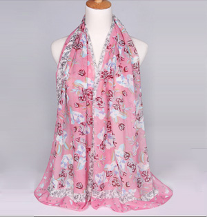 Wholesale fashion floral embellishment pattern scarf