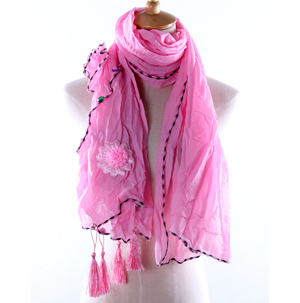 Arab headscarf Flowers Rhinestone scarves wholesale