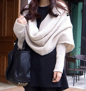 Sleeve knit scarf female shawl scarf wholesale